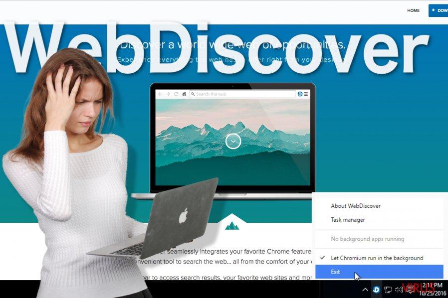 Un'immagine di WebDiscover Browser