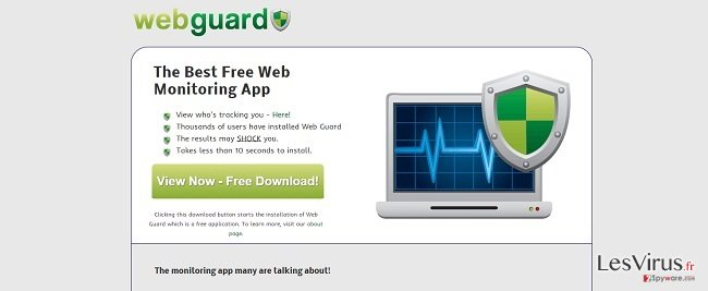 instantanea di Il virus Web Guard