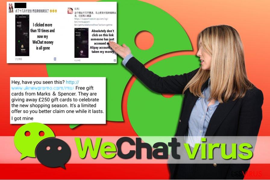 Un esempio di virus su WeChat