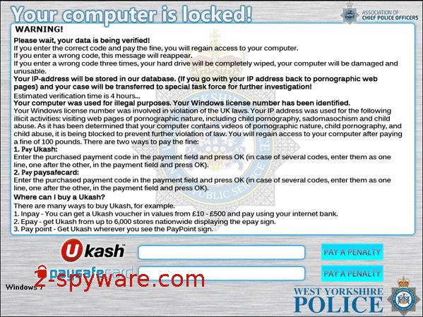 instantanea di West Yorkshire Police Ukash