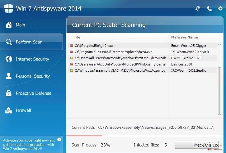 instantanea di Win 7 Antispyware 2014