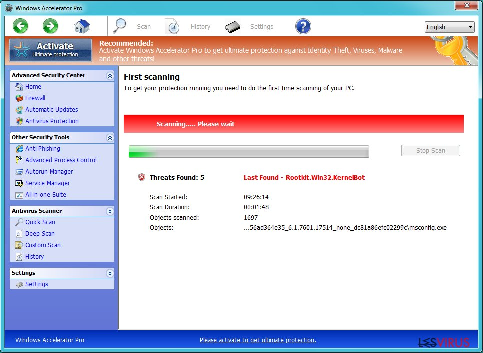 instantanea di Windows Accelerator Pro