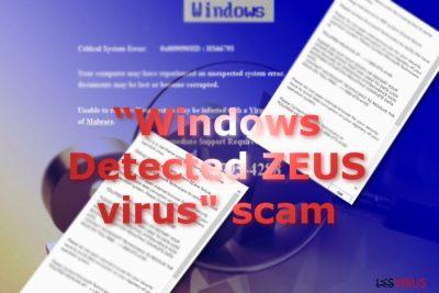 """""""Windows Detected ZEUS Virus"""" Tech support scam"""