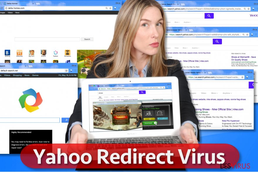 instantanea di Il virus Yahoo Redirect