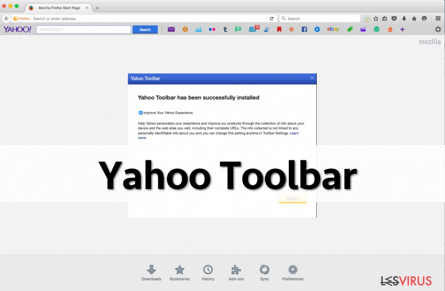 Uno screenshot di Yahoo Toolbar
