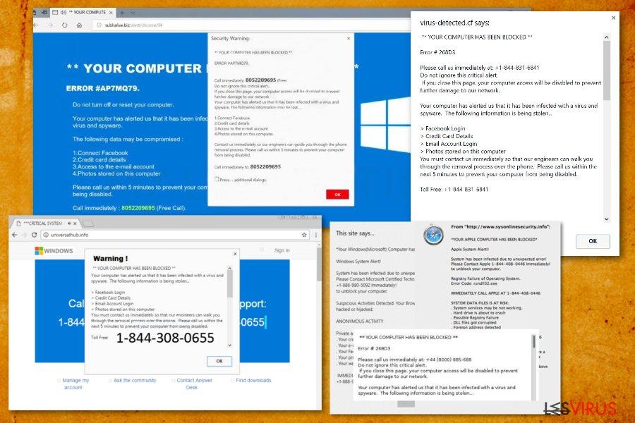 """instantanea di Il virus """"Il tuo computer è stato bloccato"""""""