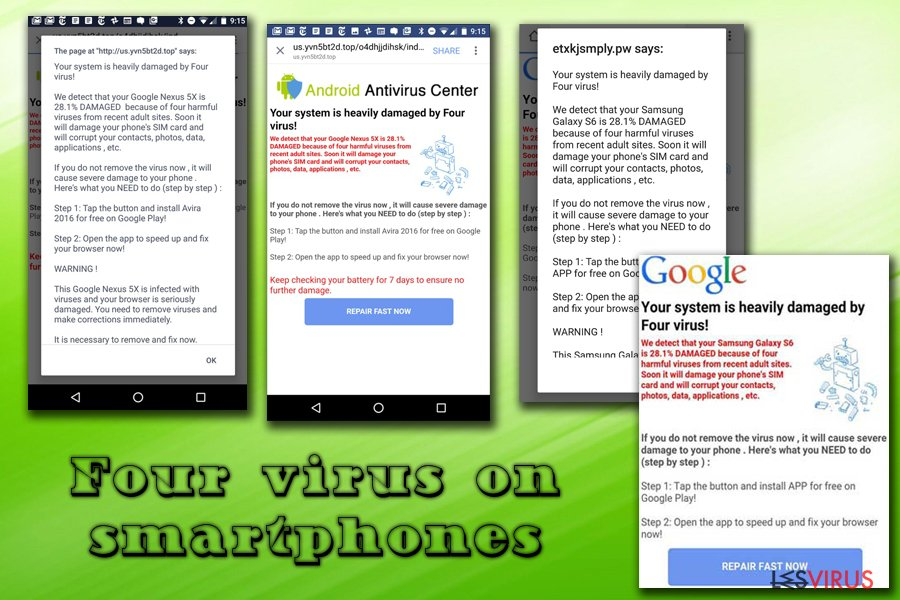 Four virus on smartphones