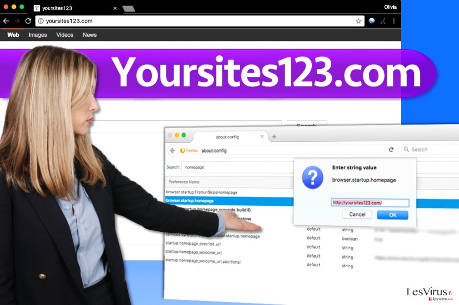 instantanea di Il virus YourSites123.com