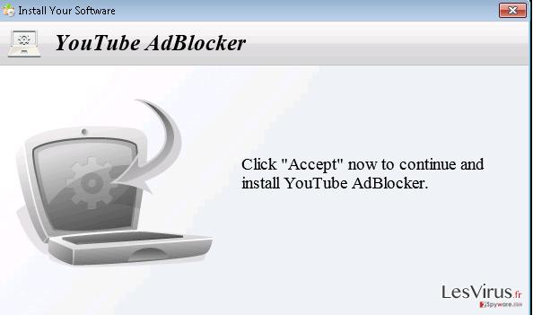 instantanea di YoutubeAdBlocker adware