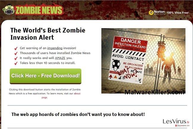 instantanea di Adware Zombie News