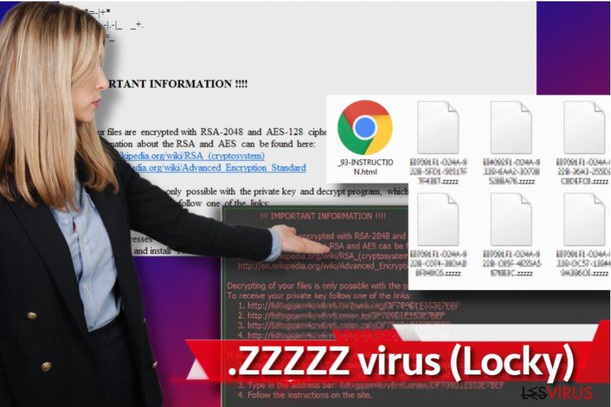 instantanea di Zzzzz ransomware virus